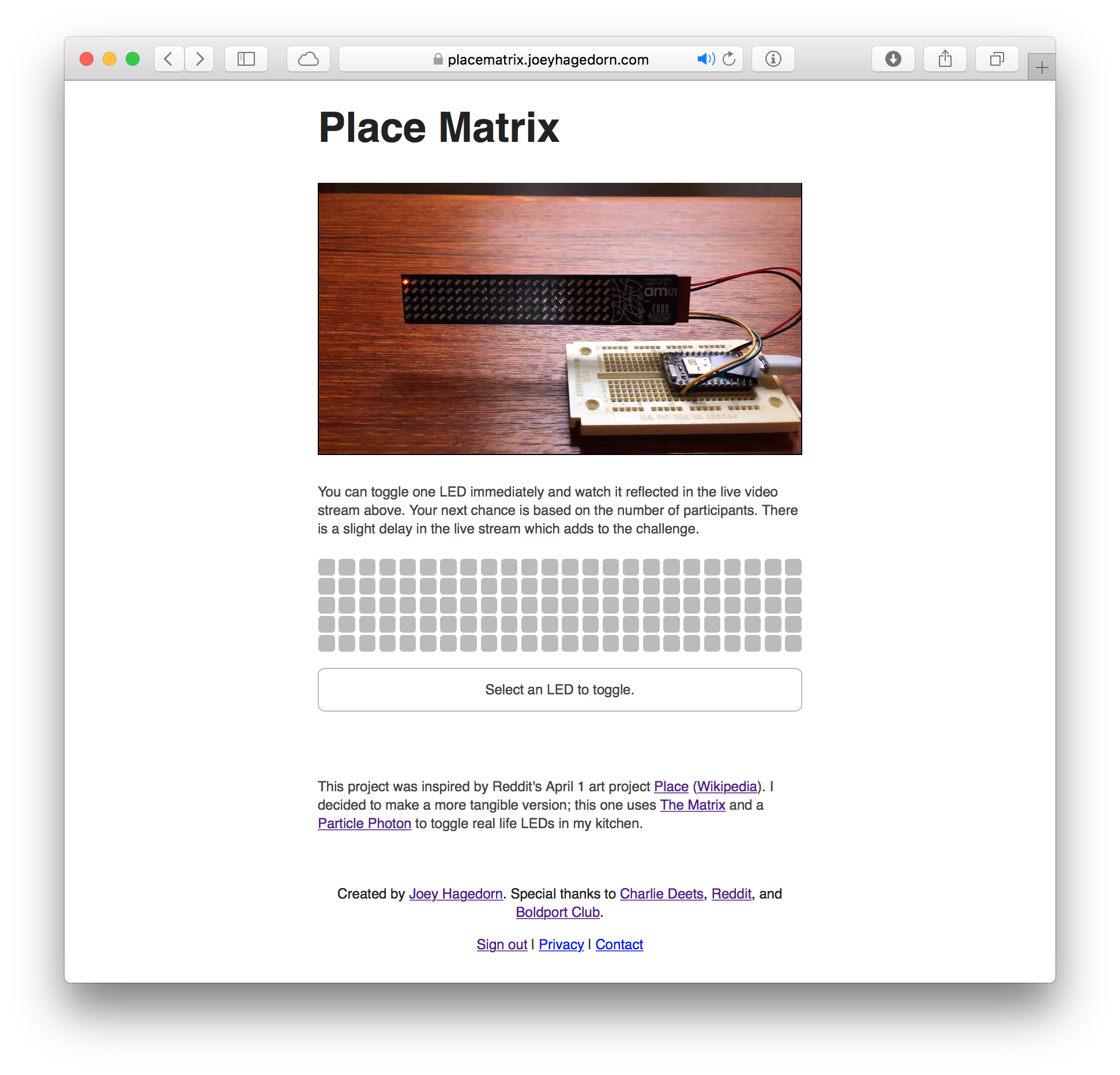Place Matrix